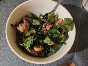 Paleo Swiss Chard and Mushrooms with Cajun's Choice Blackened Seasoning