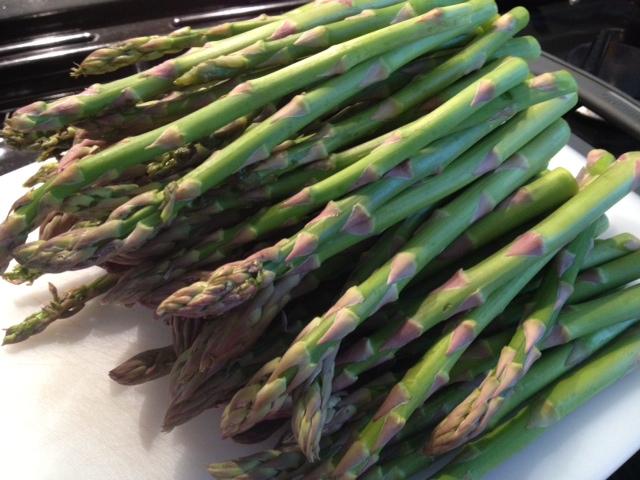 Farm fresh organic asparagus