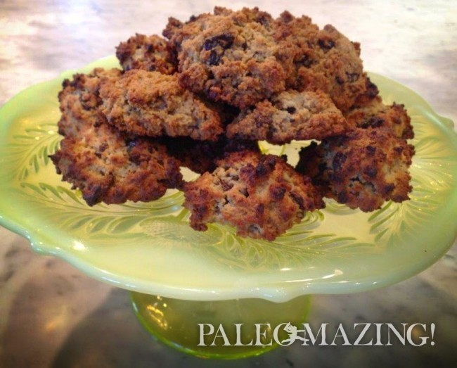 Paleo Mini Bread or Scones with Dried Fruit and Pecans