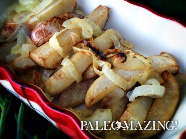 Oven Baked Turnip Fries | Paleomazing