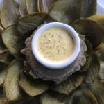 Delectable Artichoke with Creamy Dijon Dip