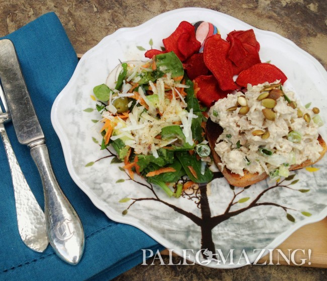 Paleo Chicken Salad with a Crunch | Paleomazing