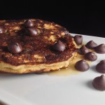 Paleo Chocolate Chip Pancakes featured