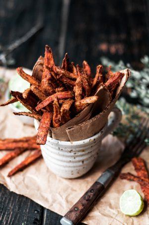 Cumin spiced sweet potato fries 2