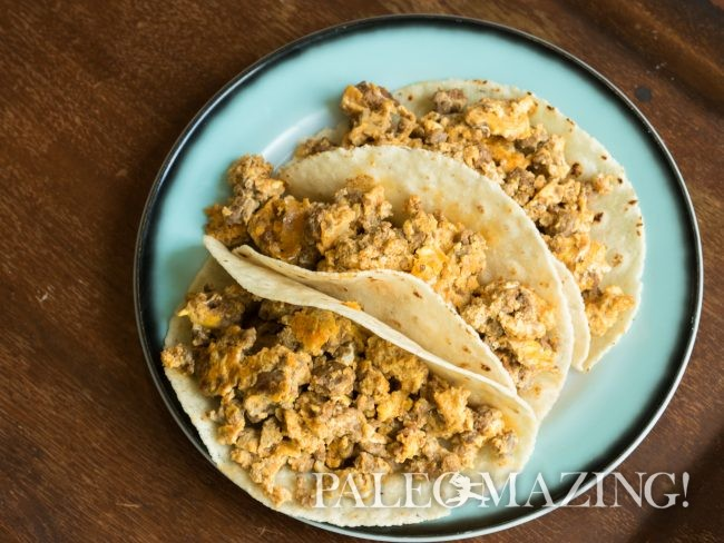 Taco Day with Paleo Beef Chorizo and Egg