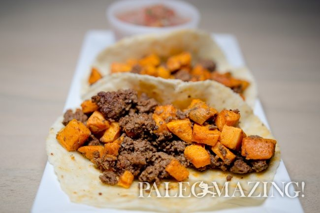 Paleo Tacos – Beef Chorizo and Sweet Potato