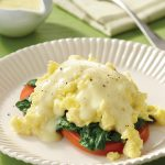 Scrambled Eggs Florentine with Hollandaise
