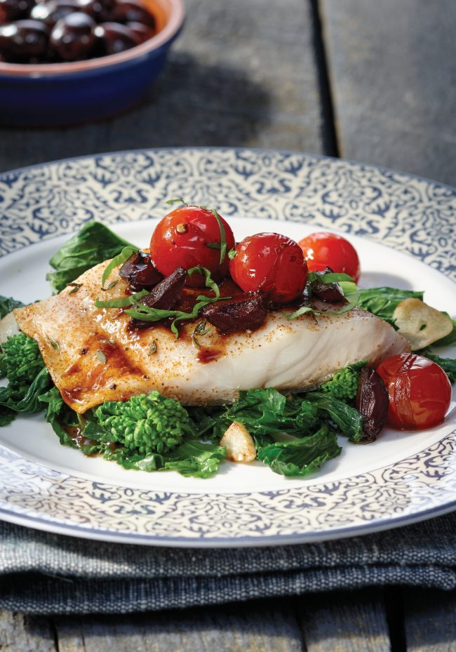 Black Cod with Warm Tomato Vinaigrette