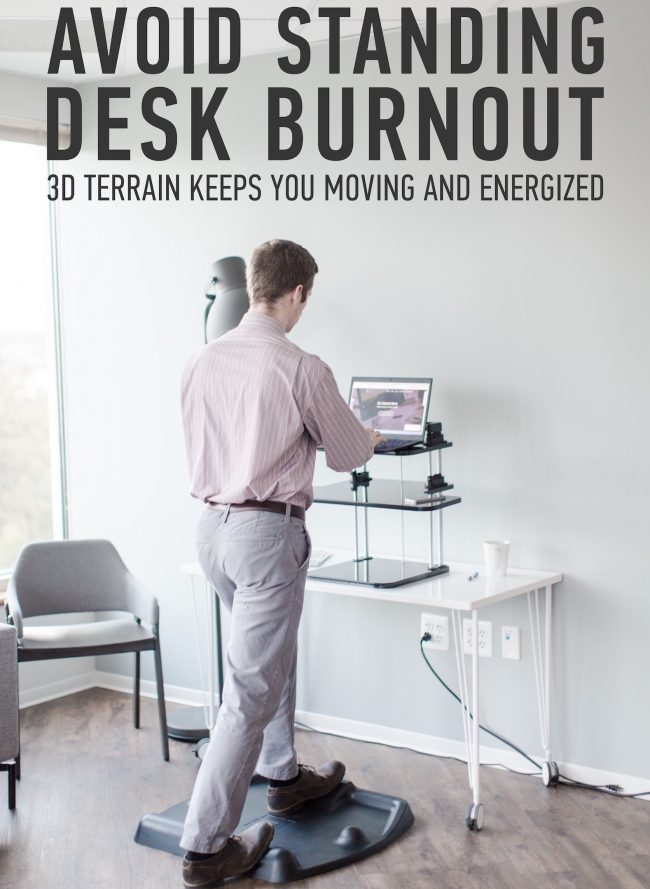 Stand Up Desk with a TerraMat