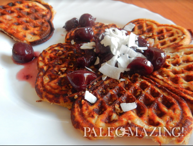 Paleo Waffles with Coconut