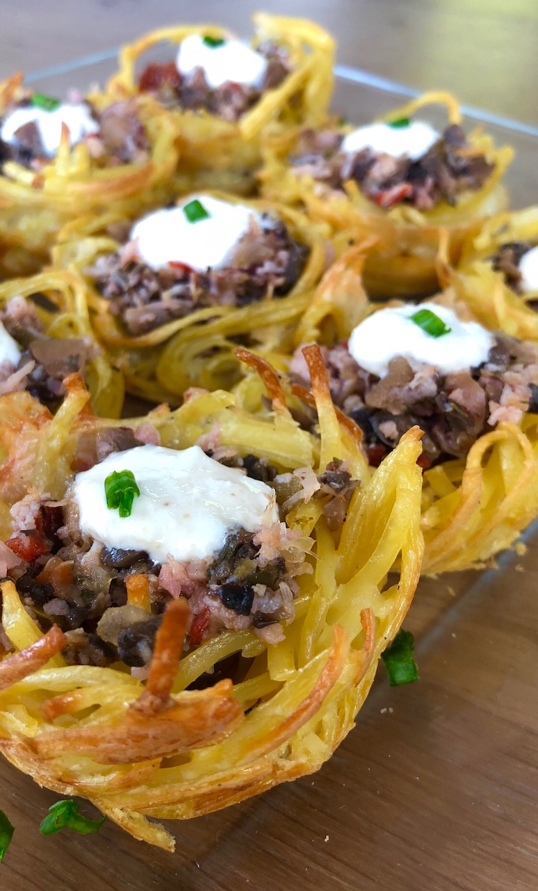 Tuscan Stuffed Noodle Nests Appetizer 4