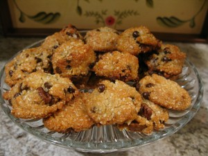 Paleo Chocolate Chip Cookies Almond Flour and Nuts