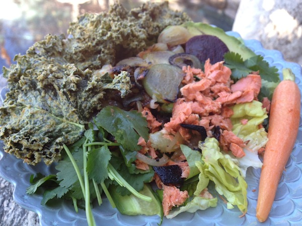 Paleo Kale with Salmon