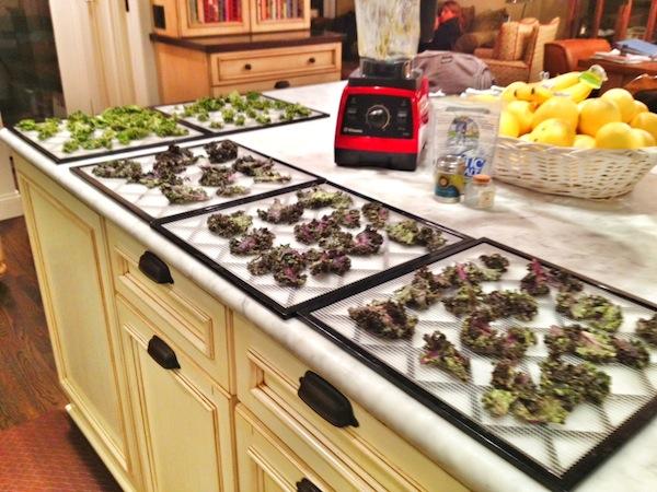 Paleo Red kale preparation
