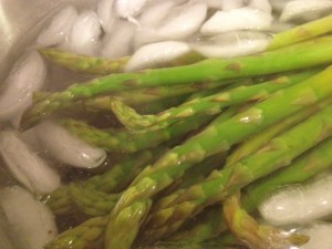 Time to halt the cooking.This is the last step the blanching.