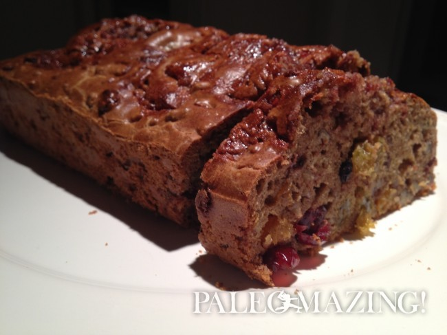 Paleo Bread with Dried Fruit