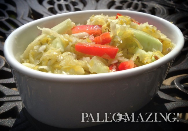 Paleo Thai Cabbage Slaw