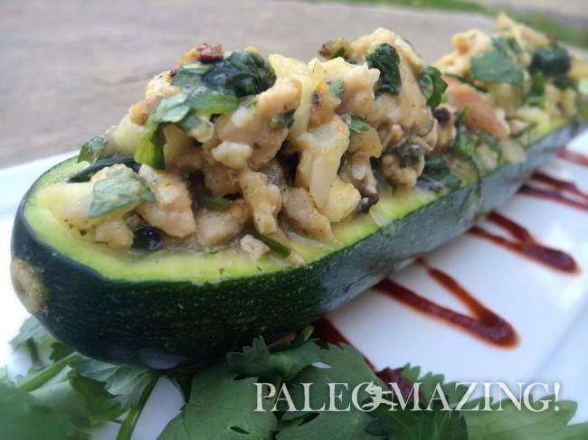 Paleo Mexican Stuffed Zucchini Boats