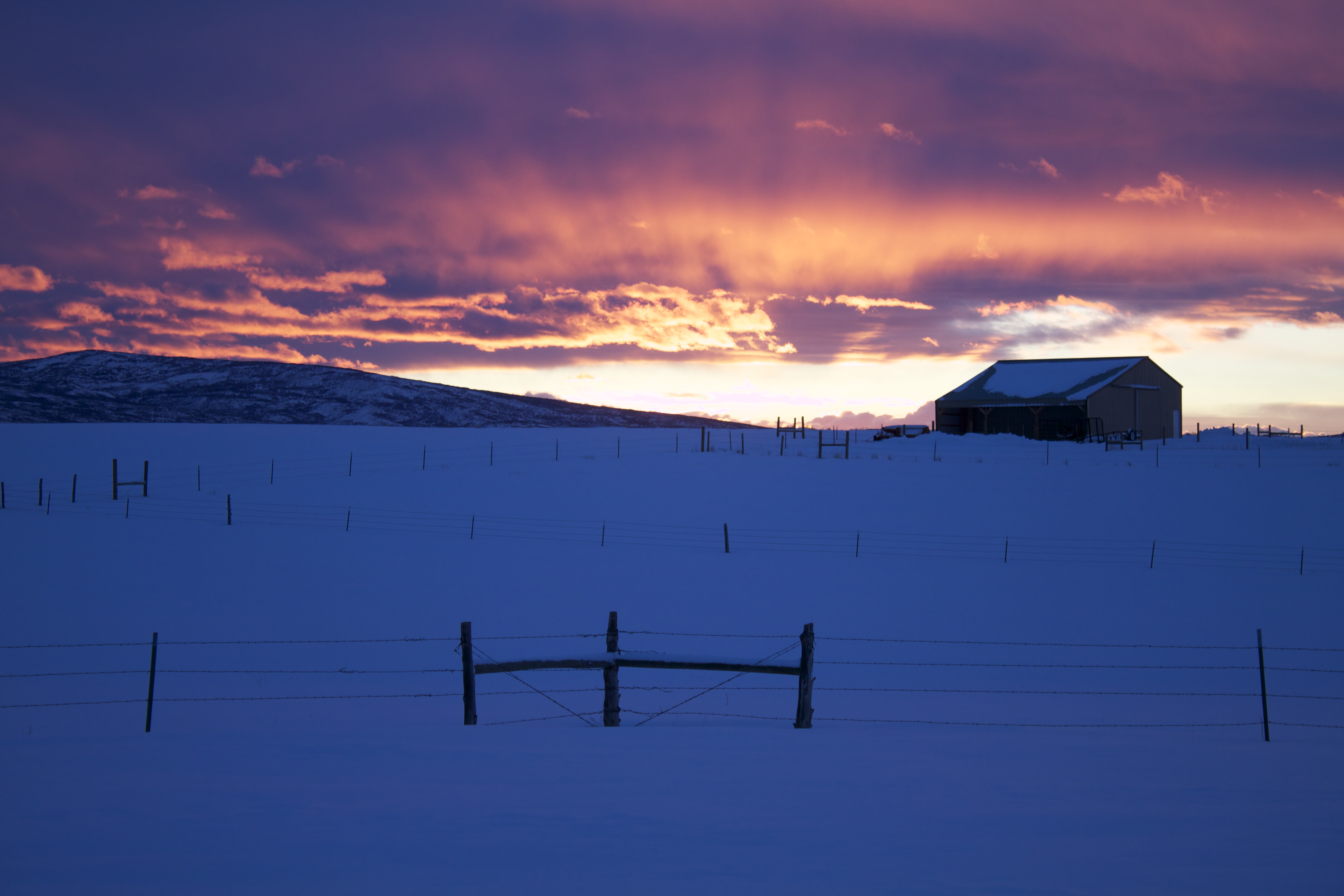 Sunset over 5280 Ranch