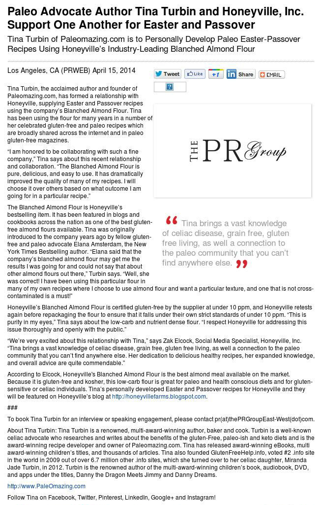 Honeyville Press Release