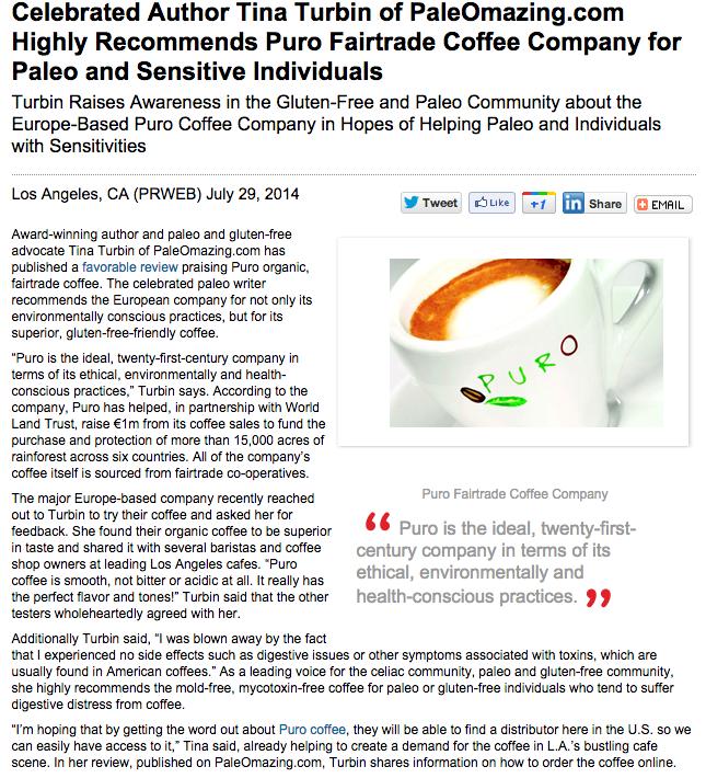 PR Web Puro Press Release