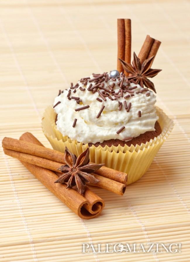 Hidden Fiber Holiday Spice Cupcakes