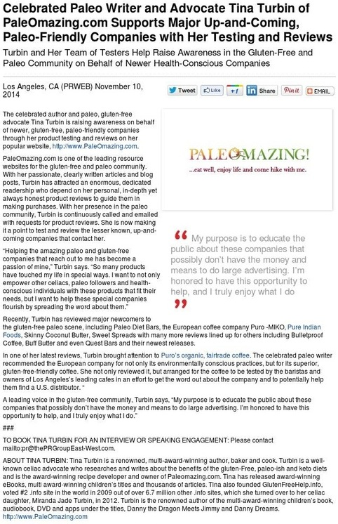 Press release - New Paleo Companies
