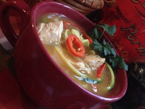 Spicy Mexican Chicken Zoodle Soup 2