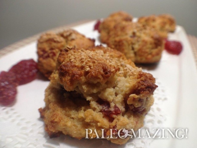 Paleo Strawberry Surprise Muffins