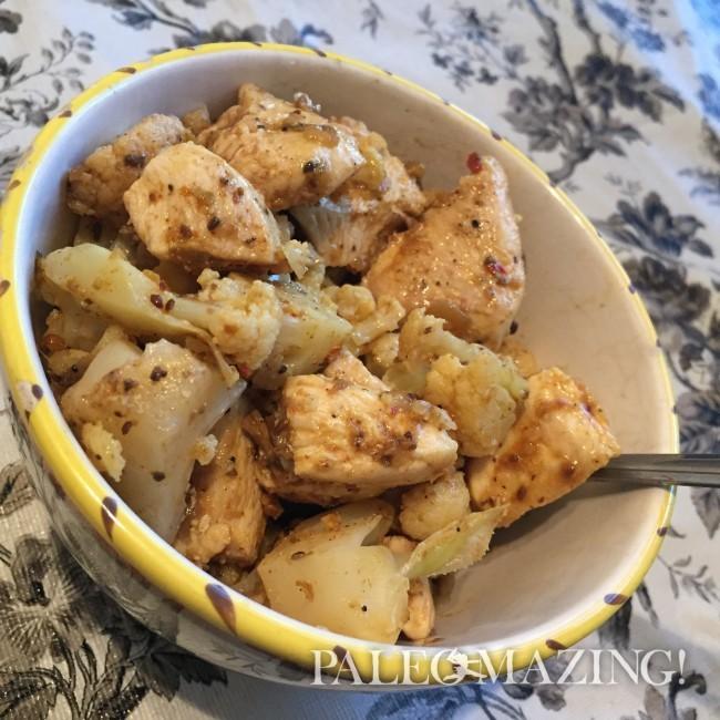Easy Masala Chicken and Cauliflower