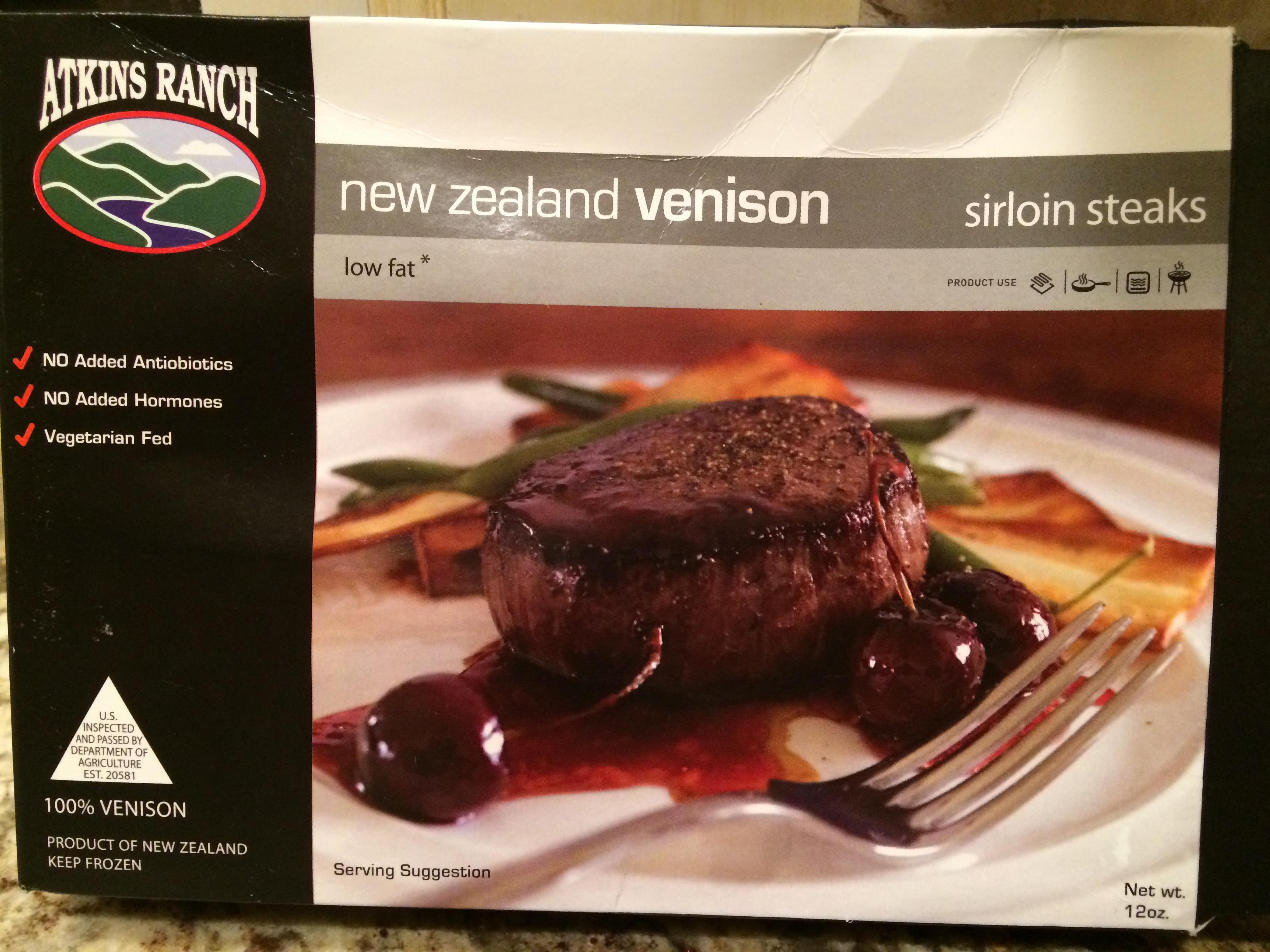 Atkins ranch venison steaks paleo style