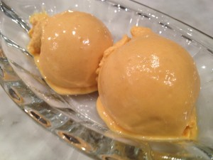 Paleo peach and mango ice cream2