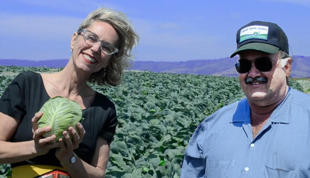 Kathryn Lukas and farmer