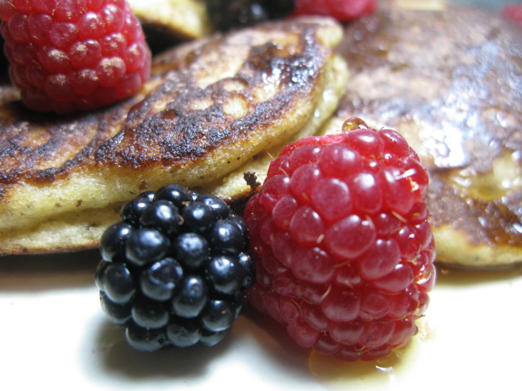 Paleo Pancakes with berries