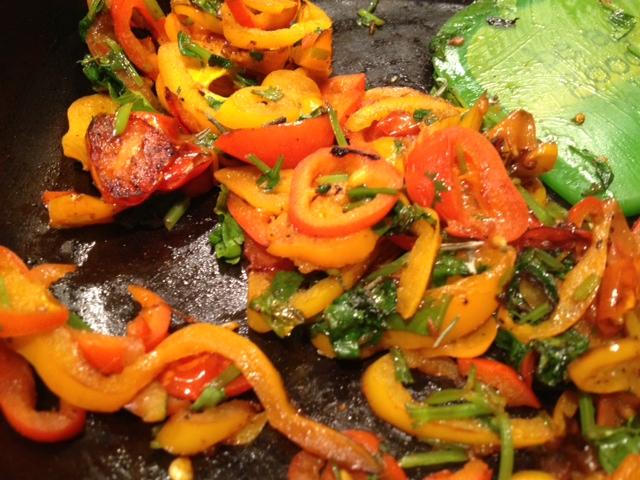 Tina's Paleo Crustless Tuscan Tart veggies
