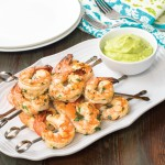 Cilantro Lime Shrimp with Avocado Puree