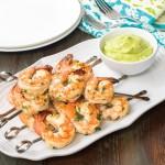 Cilantro Lime Shrimp with Avocado Puree