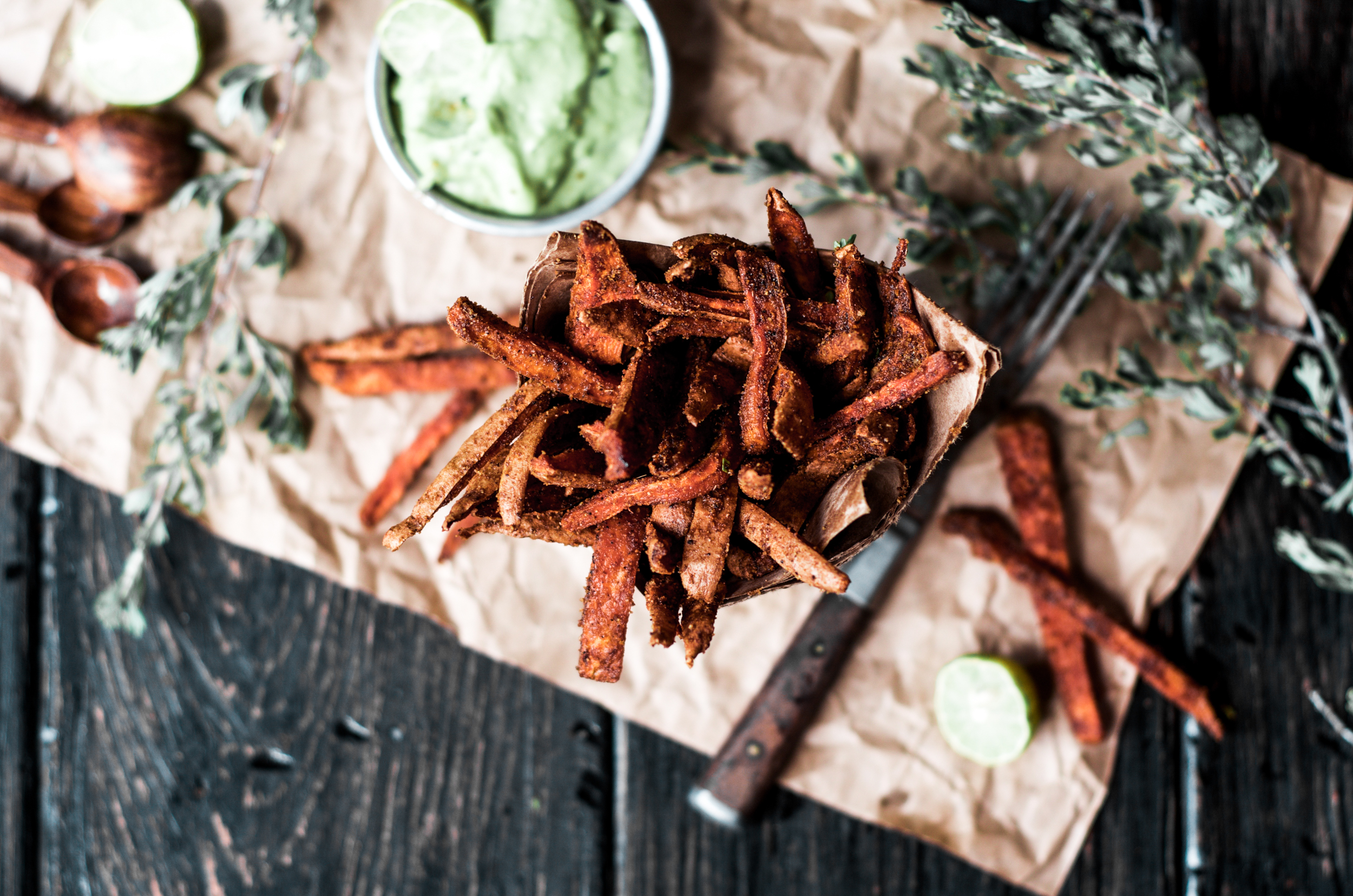 Cumin spiced sweet potato fries 3
