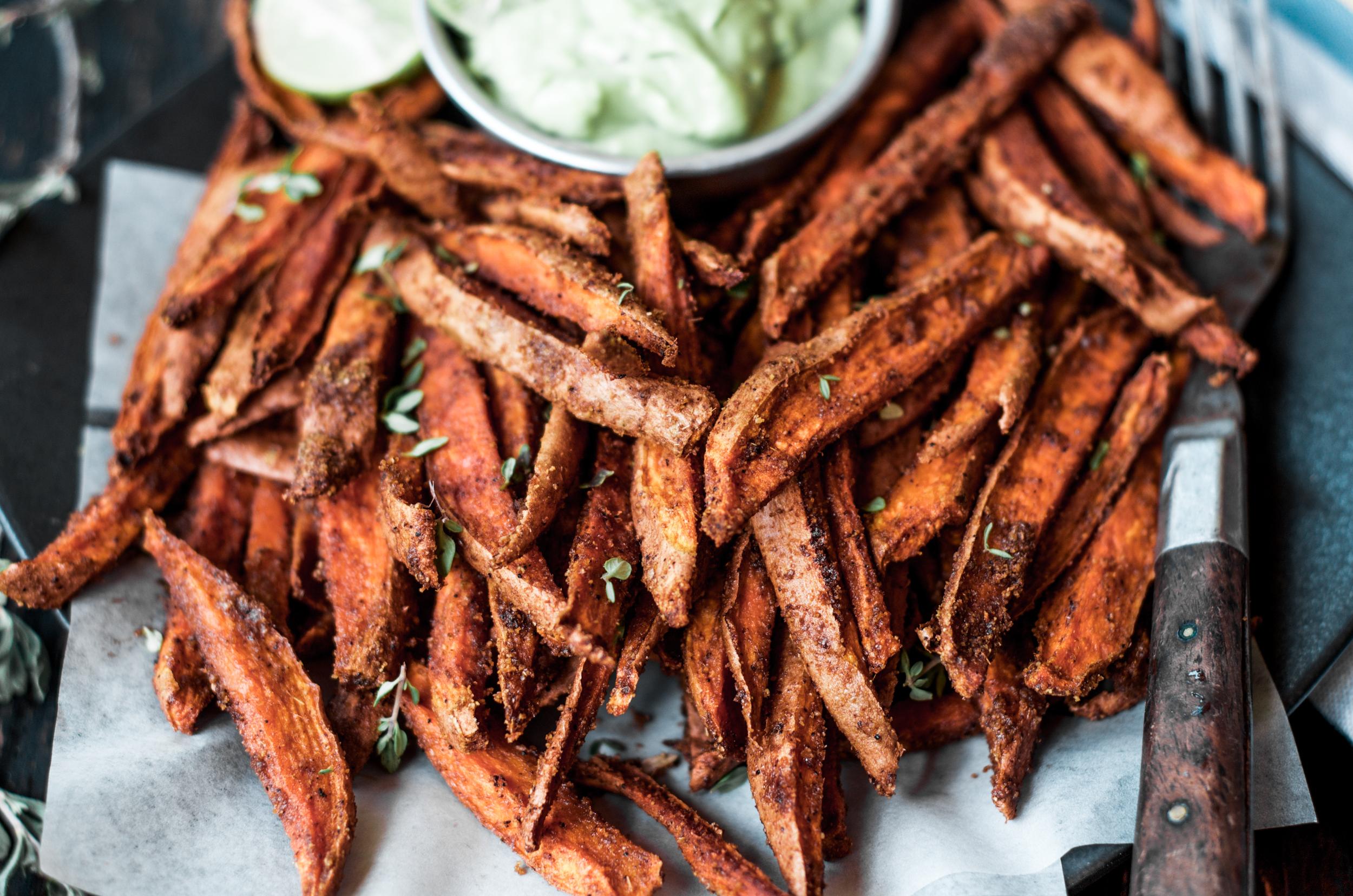 Cumin spiced sweet potato fries 4