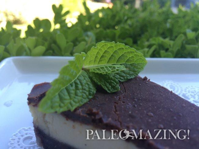 Paleo Raw Hazelnut Chocolate Mint Tart