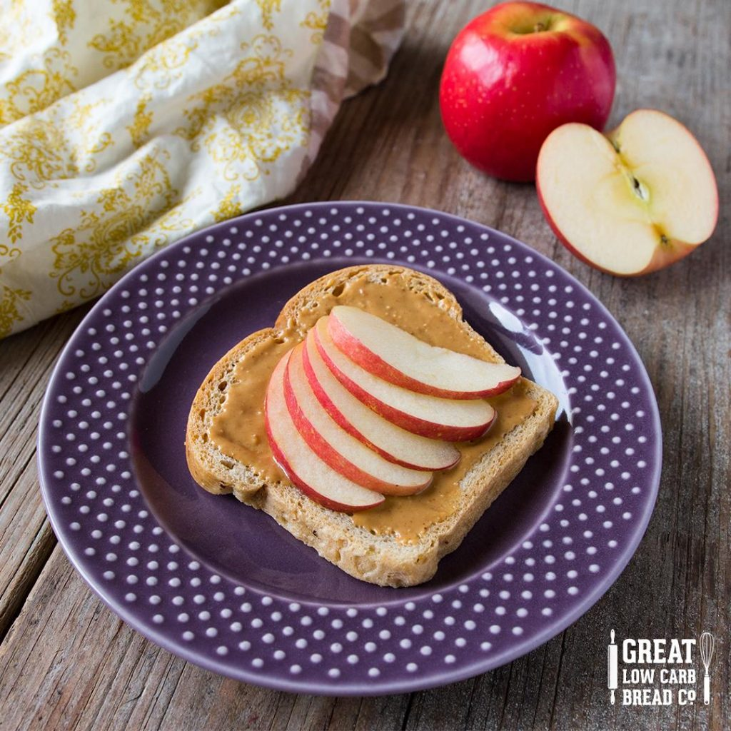 low carb paleo company OMG nut butter toast