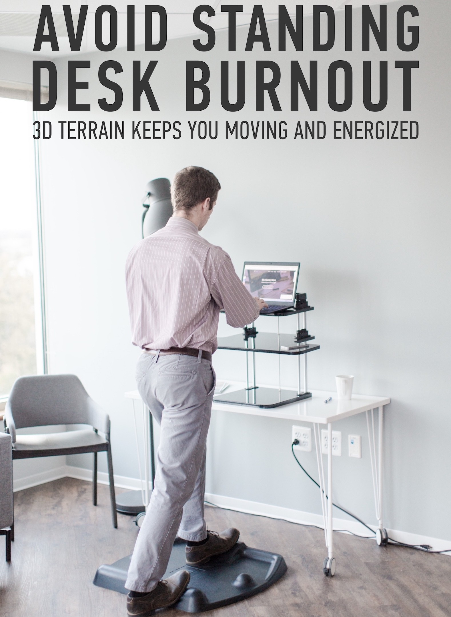Stand Up Desk with a TerraMat 2