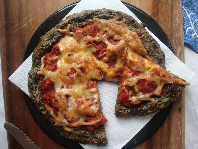 Paleo Spinach Pizza