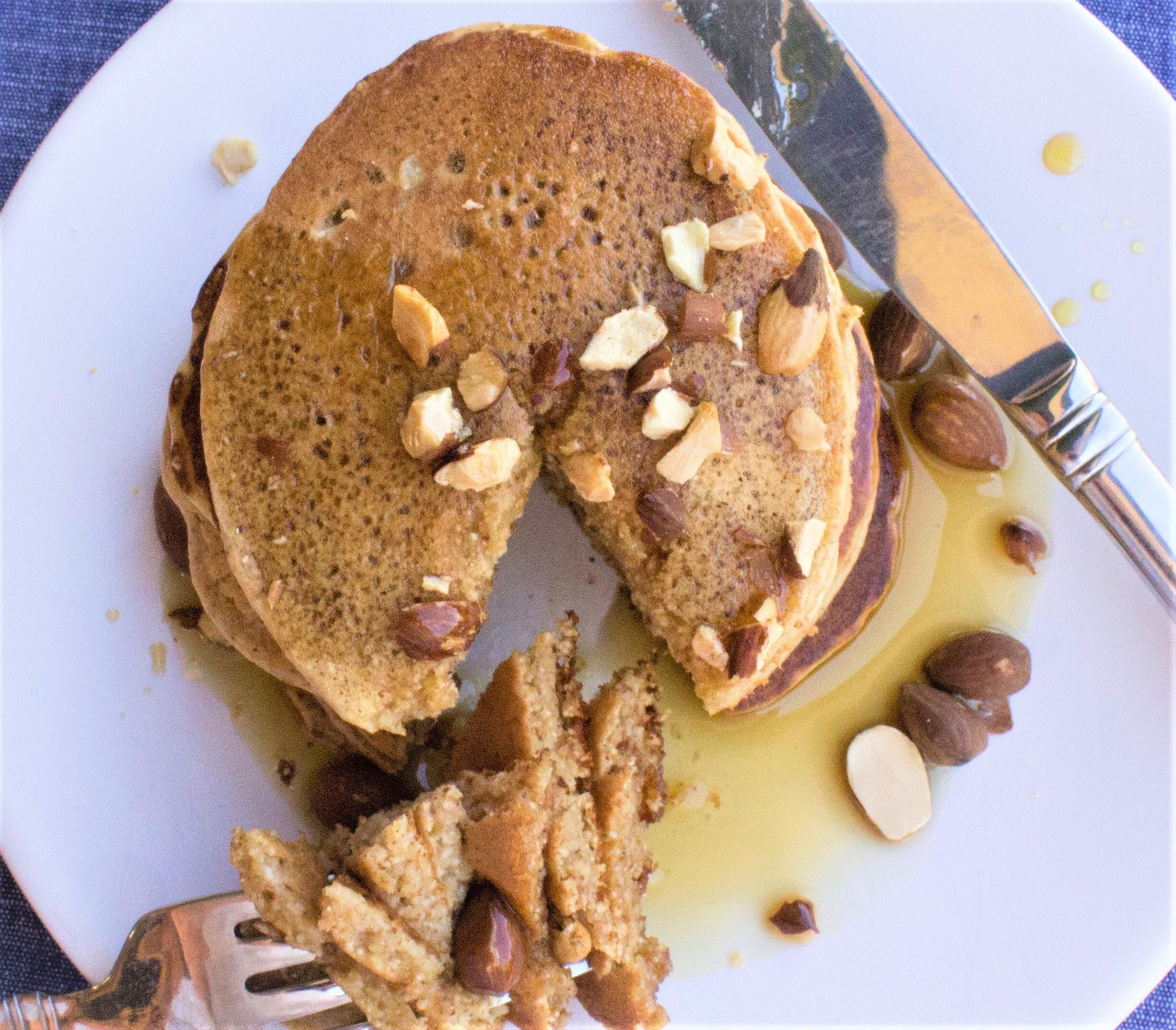 paleo maple almond pancakes edit
