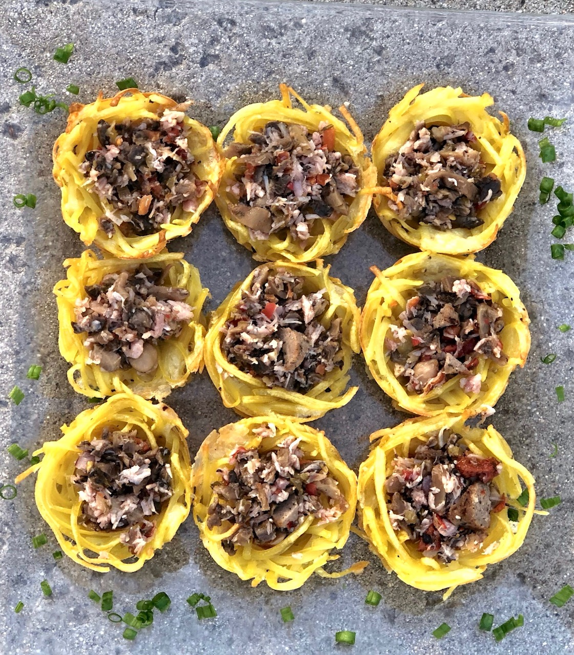 Tuscan Stuffed Noodle Nests Appetizer 1