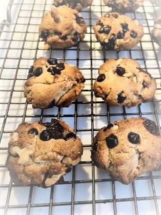 Paleo Hazelnut Chocolate Chip Cookies
